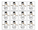 Snowmen Real vs Nonsense Words Card Sort
