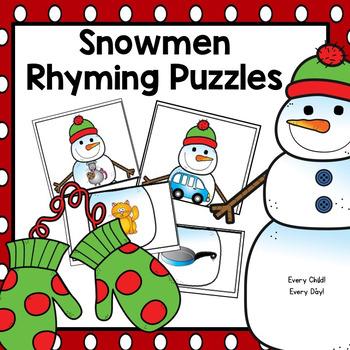 Snowmen Rhyming Puzzles