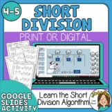 Snowmen Short Division Practice Sheets & Digital Google Slides