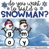 Snowman Sight Word Building- Pre Primer