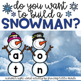 Snowman Sight Word Building- Primer