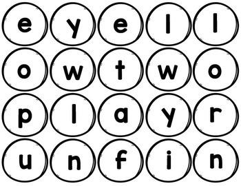 Snowman Sight Word Building- Primer