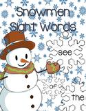 Snowmen Sight Words