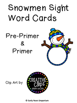 Winter Sight Words Pre-Primer & Primer