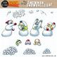 Snowmen Snowball Fight Clip Art