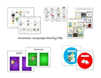 Snowmen Speech & Language Activity Pak
