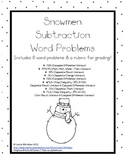 Snowmen Subtraction Word Problems