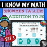 Snowmen Tallies - Addition to 20 Set 3 Boom Cards™