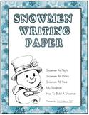 Snowmen Template Writing Paper