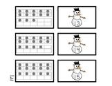 Snowmen Ten Frame Games (Numbers 1-20)