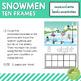 Snowmen Ten Frames Count and Write Activities