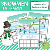 Snowmen Ten Frames Count and Write Activities