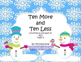 Snowmen Ten More and Ten Less- Counting up and back by 10's