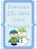 Snowmen Themed CGI Math Word Problems for Winter