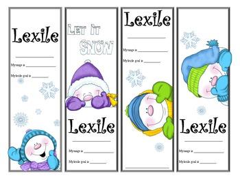 Snowmen Themed Lexile Bookmarks