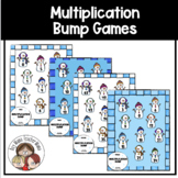 Snowmen Themed Multiplication Facts (0-9) Bump Games