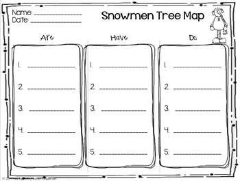 Snowmen Unit- based on the Snowmen at Night series by Caralyn Buehner