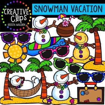 Snowmen Vacation {Creative Clips Digital Clipart}