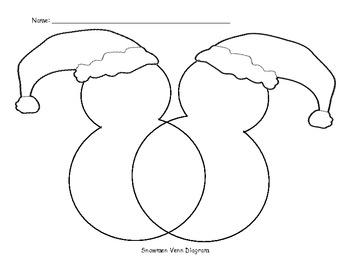 Venn Diagram: Compare the Snowmen! | abcteach |Snowmen Venn Diagram