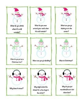Snowmen & Winter WH Questions