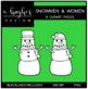 Snowmen & Women Clipart {A Hughes Design}