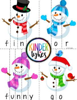 Snowmen Word Puzzles (Bundle)