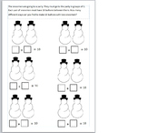Snowmen addition differentiated