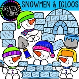 Snowmen and Igloos: Winter Clipart {Creative Clips Clipart}