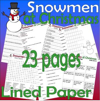 Snowmen at Christmas : Reading Comprehension Book Companion Activity Pack 23pg
