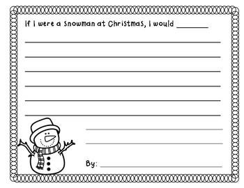 Snowmen at Christmas Writing