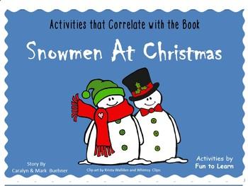 Snowmen At Christmas.Snowmen At Christmas By Caralyn Buehner 62 Pgs C C And Fun Activities