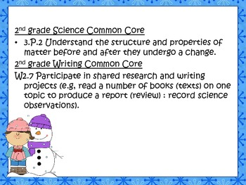 Snowmen Science and Writing