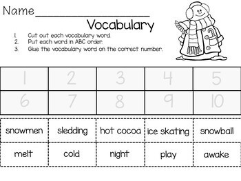 Snowmen at Night   57 pages of common core activities