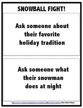 Snowmen at Night ACTIVITY PACK