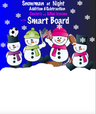 Snowmen at Night Addition & Subtraction for the Smart Board