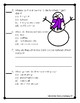 Snowmen at Night Articulation and Language Sheets