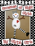 Snowmen at Night Glyph with Writing Options