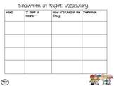 Snowmen at Night - Language Activities