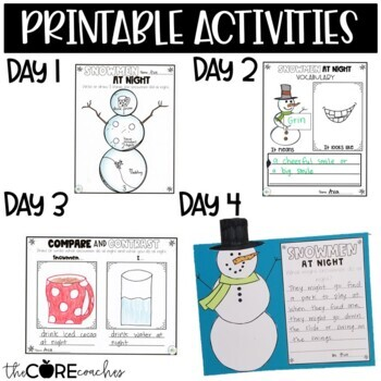 Snowmen at Night: Interactive Read-Aloud Lesson Plans and Activities