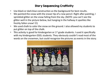 Snowmen at Night Activity Pack {Story Sequencing and CVC Craftivities!}