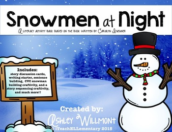 Snowmen at Night Activity Pack {Story Sequencing and CVC C