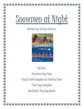 Snowmen at Night Writing Activity