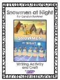 Snowmen at Night Writing Activity and Craft