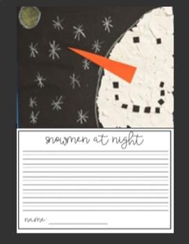 Snowmen at Night Writing & How-To Build a Snowman Writing Activities Bulletin