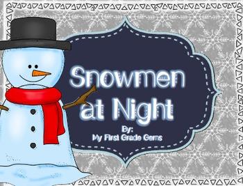 Snowmen at Night- Writing Pages- Freebie!