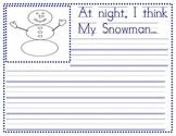 Snowmen at Night Writing Paper