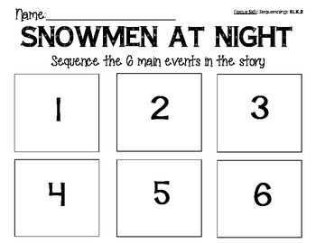 Snowmen at Night Writing Prompt