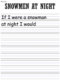 Snowmen at Night Writing Prompts and Worksheets