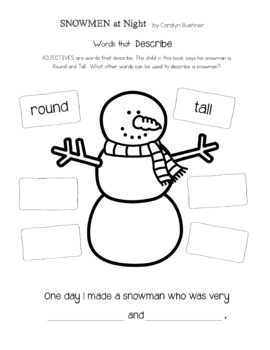 Snowmen at Night by Caralyn Buehner : Book Club K - 2nd