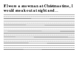 Snowmen at Night writing template